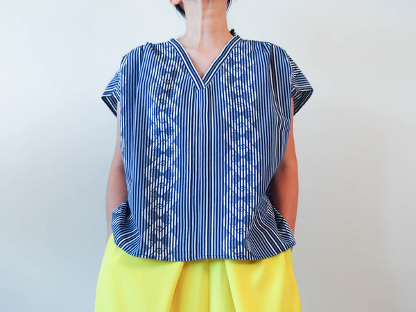 <RS18T11-006> OKINAWA V-neck Top