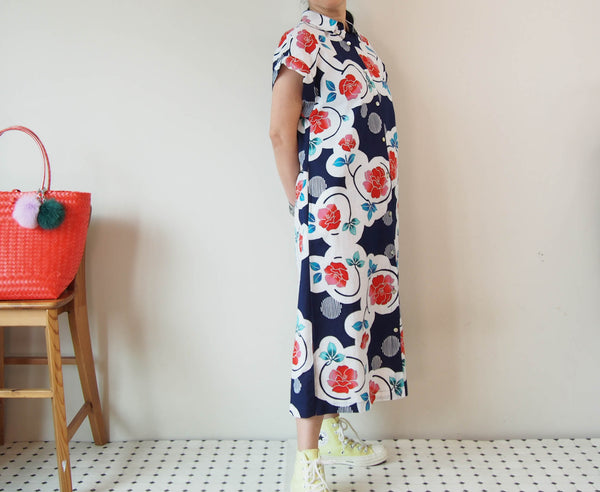 <RS19D15-001>  OKINAWA Long Shirt Dress