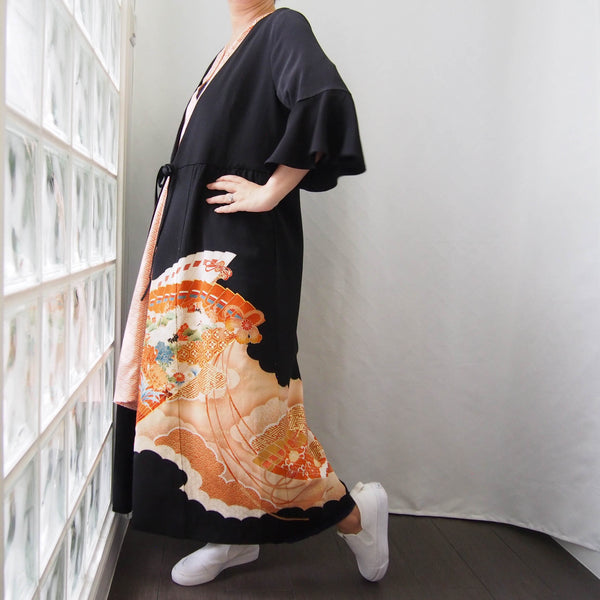 <RS19D16-001> KIMONO WRAPED Dress'n Coat