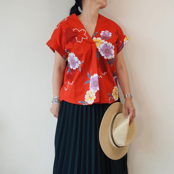 <RS19T14-002> OKINAWA ORIGAMI Top