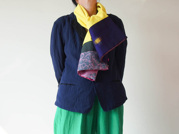<RS18A01-001> KIMONO Pach-worked Scarf