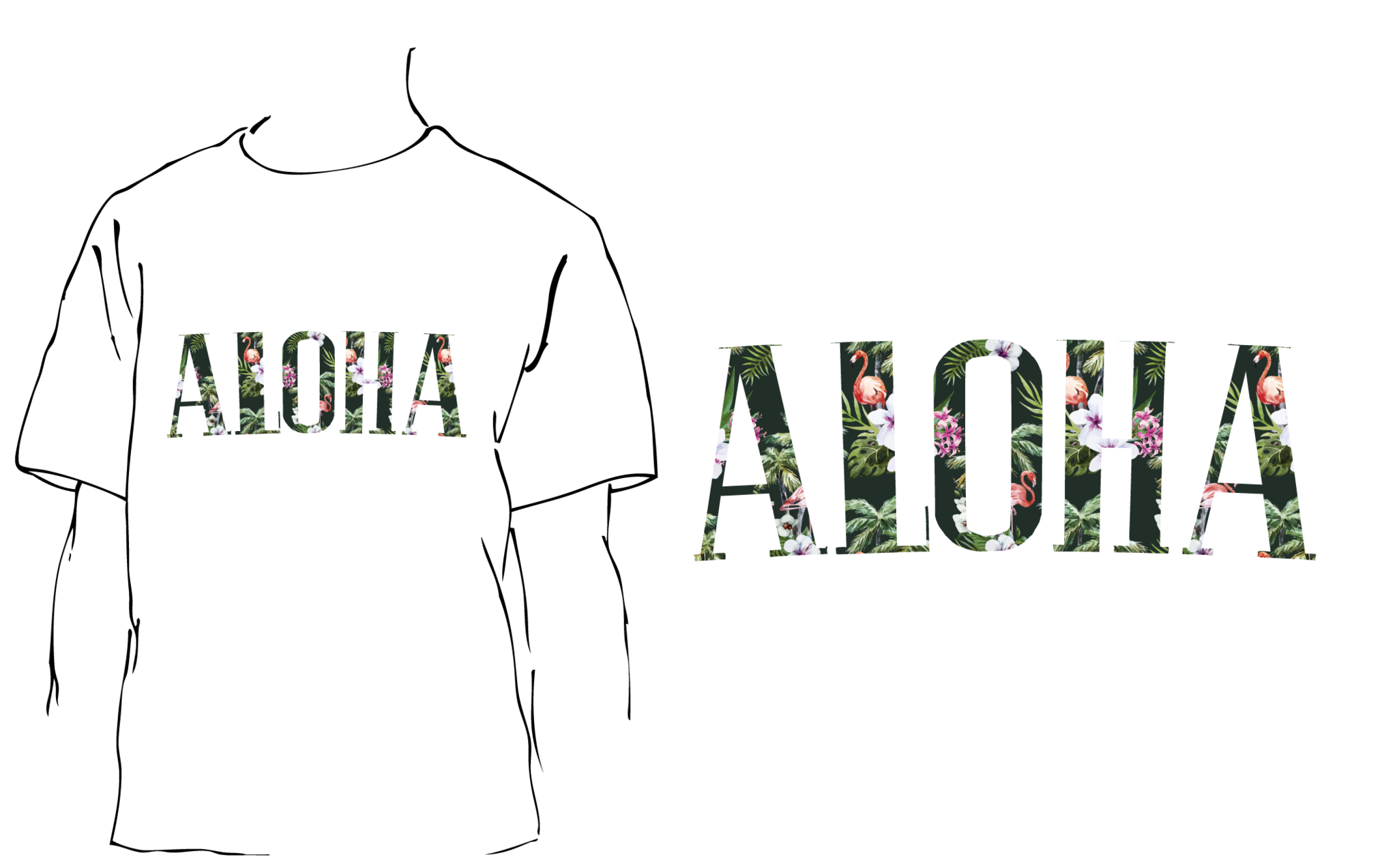 A image of Aloha Mingo Fill white T shirt