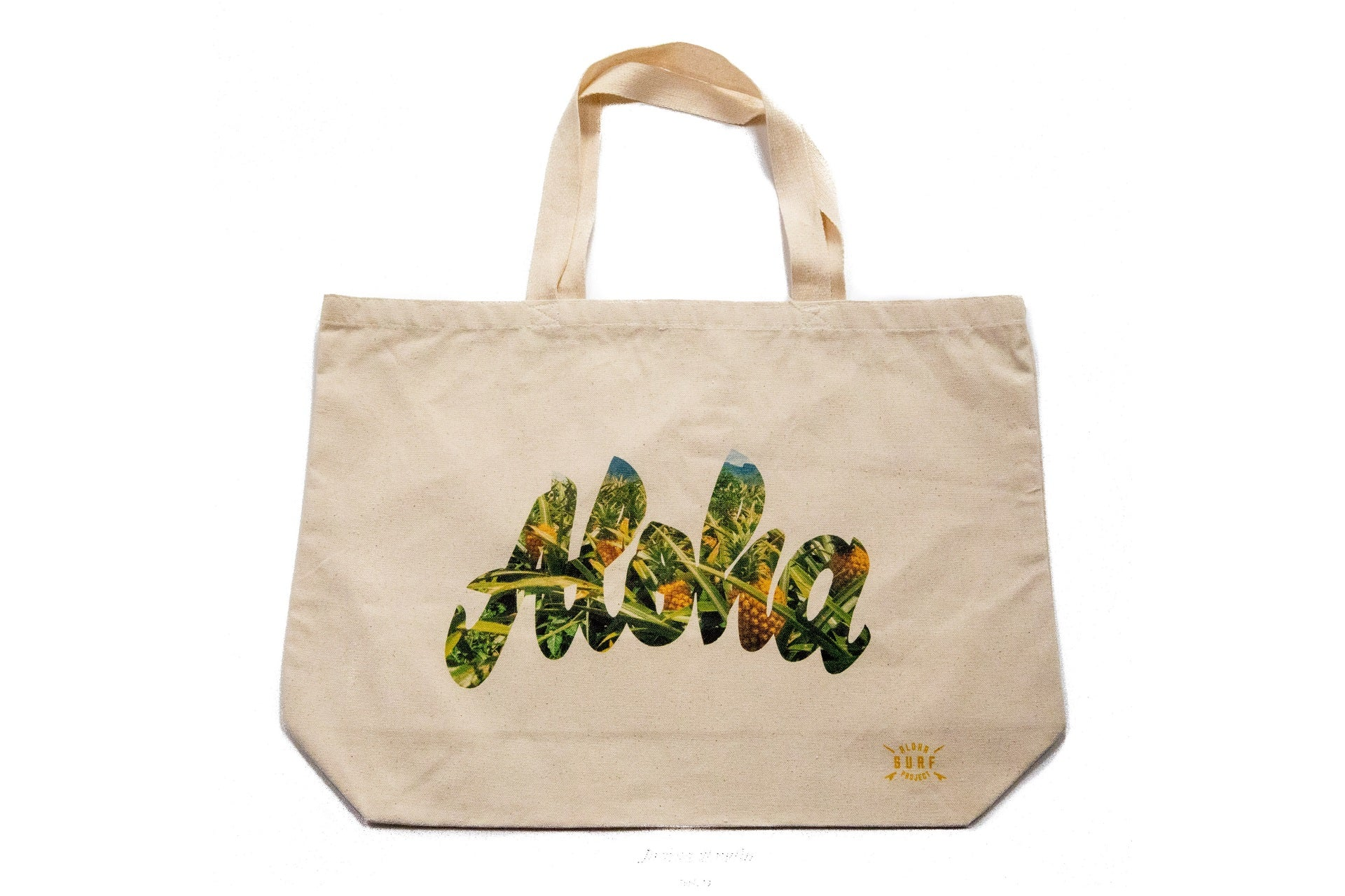 ASP Tote Bag Aloha Script Pineapple Fill Large