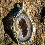 Agate and Sterling silver Pendant