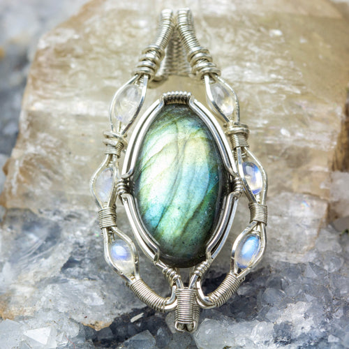 Labradorite and Rainbow Moonstone: Moon Portal