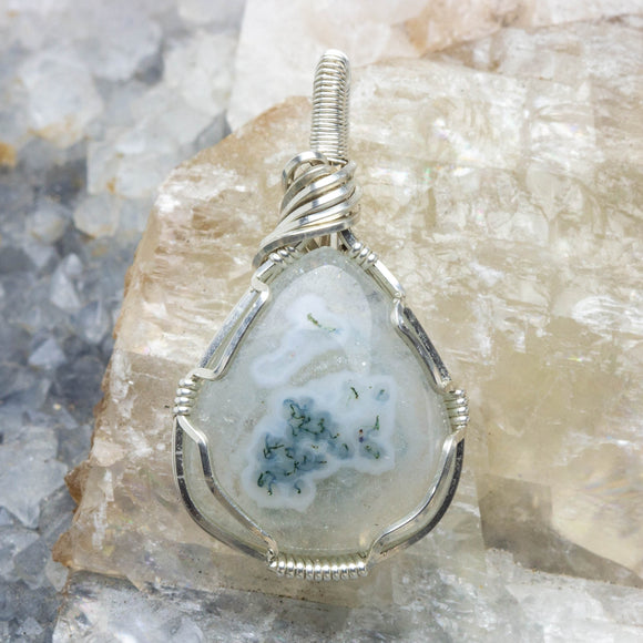 Solar Quartz and Sterling Pendant