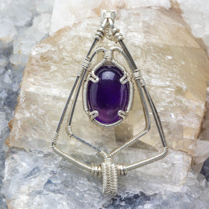 Shield of Protection: Amethyst Pendant Silver