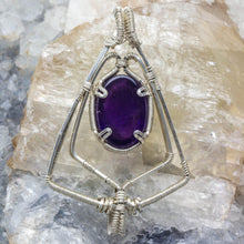 Load image into Gallery viewer, Shield of Protection: Amethyst Pendant Silver