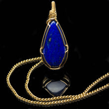 Load image into Gallery viewer, Royalty: Gold Lapis Lazuli Pendant