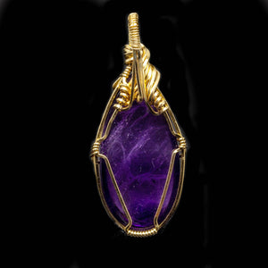 Protection: Gold Amethyst Pendant