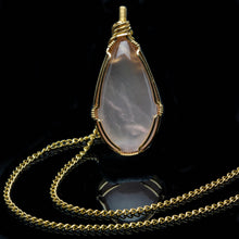 Load image into Gallery viewer, Love: Rose Quartz in Gold Pendant