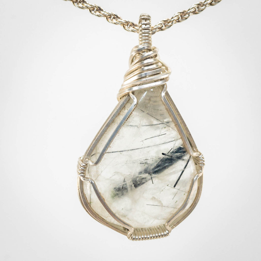 Tourmalinated Quartz Pendant