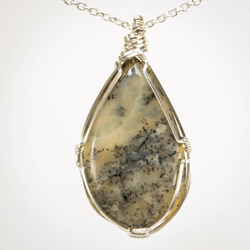 Dendritic Agate and Sterling Pendant