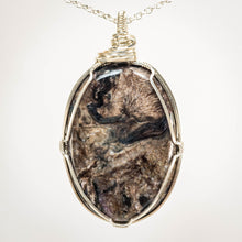 Load image into Gallery viewer, Pietersite and Sterling Pendant