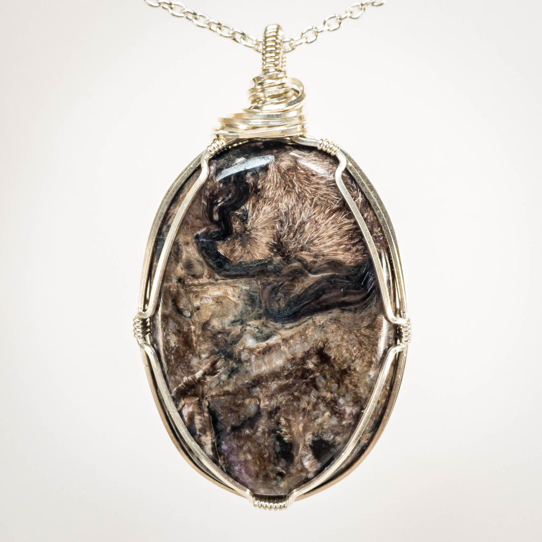 Pietersite and Sterling Pendant