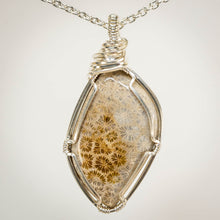Load image into Gallery viewer, Fossilized Coral Pendant