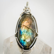 Load image into Gallery viewer, Labradorite and Sterling Pendant