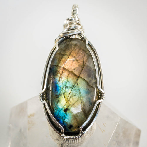 Labradorite and Sterling Pendant