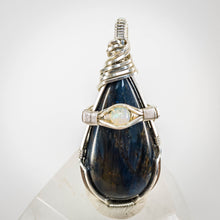 Load image into Gallery viewer, Pietersite and Opal Pendant