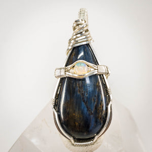 Pietersite and Opal Pendant