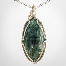 Load image into Gallery viewer, Seraphinite and Sterling Pendant