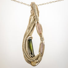 Load image into Gallery viewer, Tourmaline and Opal Pendant