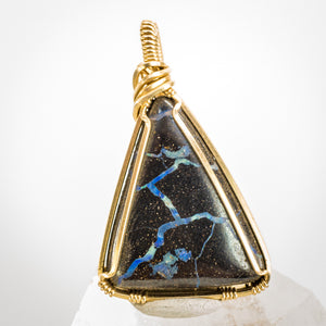 Boulder Opal and Gold Pendant