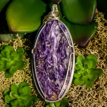 Load image into Gallery viewer, Charoite And Sterling Silver Pendant