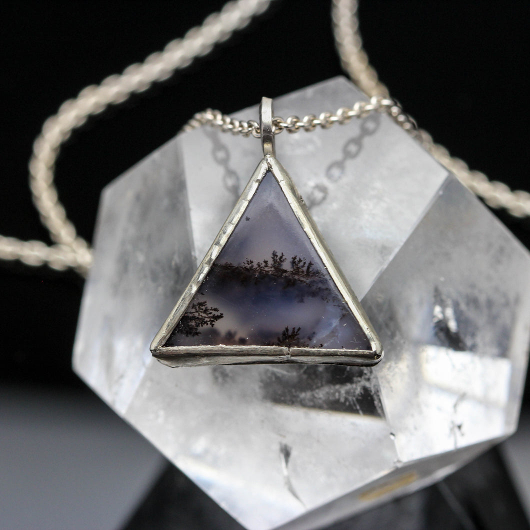 Natures Bliss: Dendritic Agate and Sterling Pendant