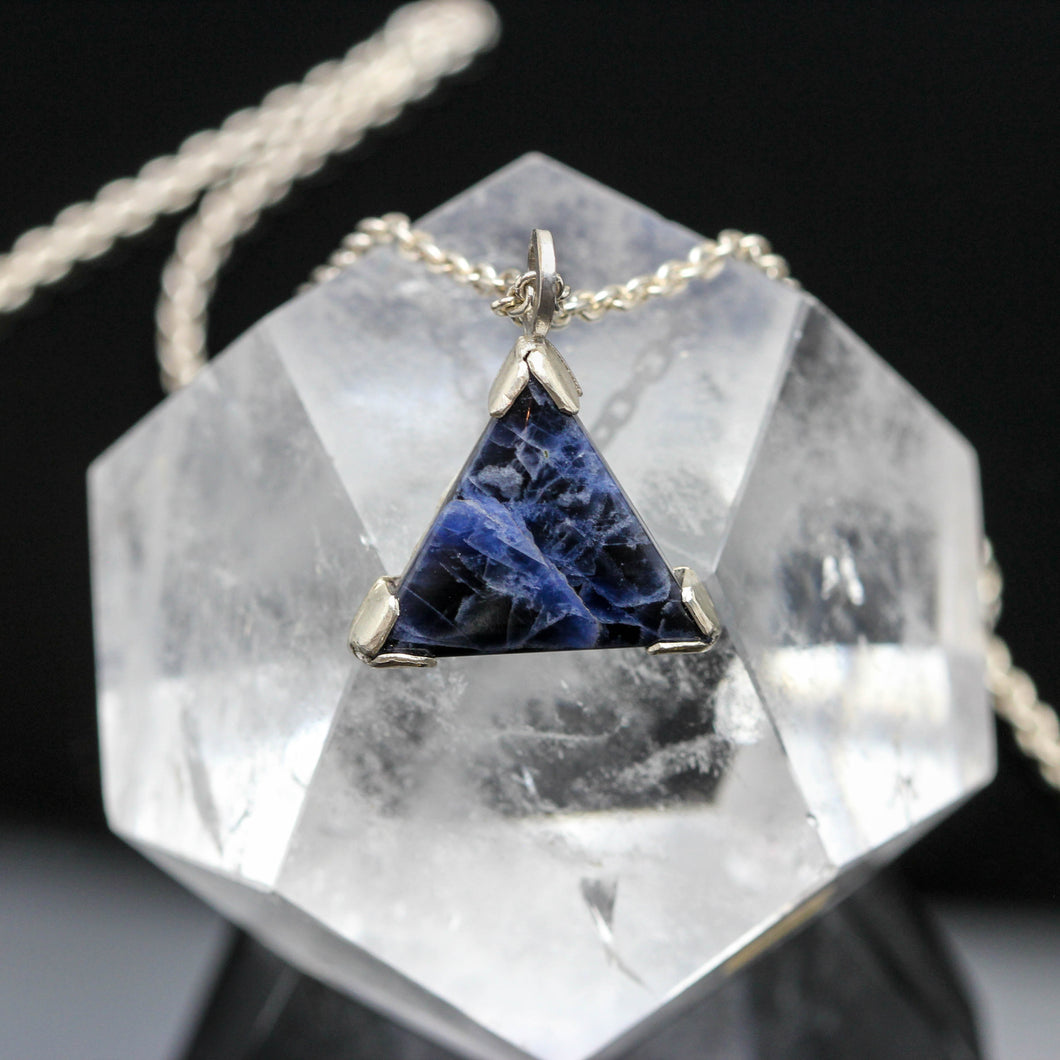 Sodalite and Sterling Pendant