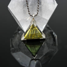 Load image into Gallery viewer, Dragons Breath: Labradorite and Sterling Pendant