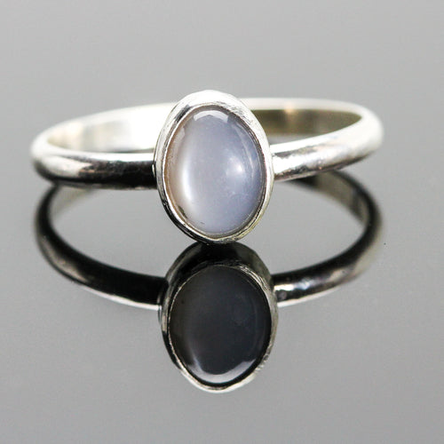 Peace: Moonstone and Sterling Silver Ring