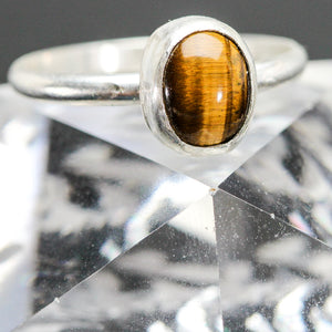 Courage : Tigers Eye and Sterling Silver Ring