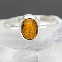 Load image into Gallery viewer, Courage : Tigers Eye and Sterling Silver Ring