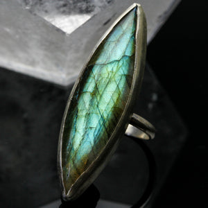Dragons Eye: Labradorite Ring- Size 6.5