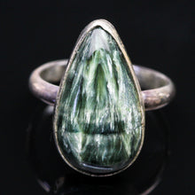Load image into Gallery viewer, Seraphinite and Sterling Ring- Size 6.5