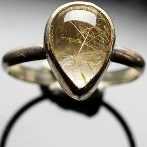 Rutilated Quartz  Ring- Size 4.5