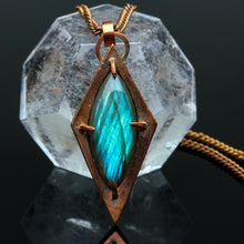 Load image into Gallery viewer, Labradorite and Copper Pendant