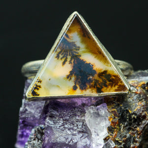 Dendritic Agate Ring- Size 6