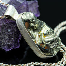 Load image into Gallery viewer, Pyrite and Sterling Necklace