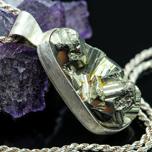 Pyrite and Sterling Necklace