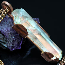 Load image into Gallery viewer, Quartz and Copper Pendant