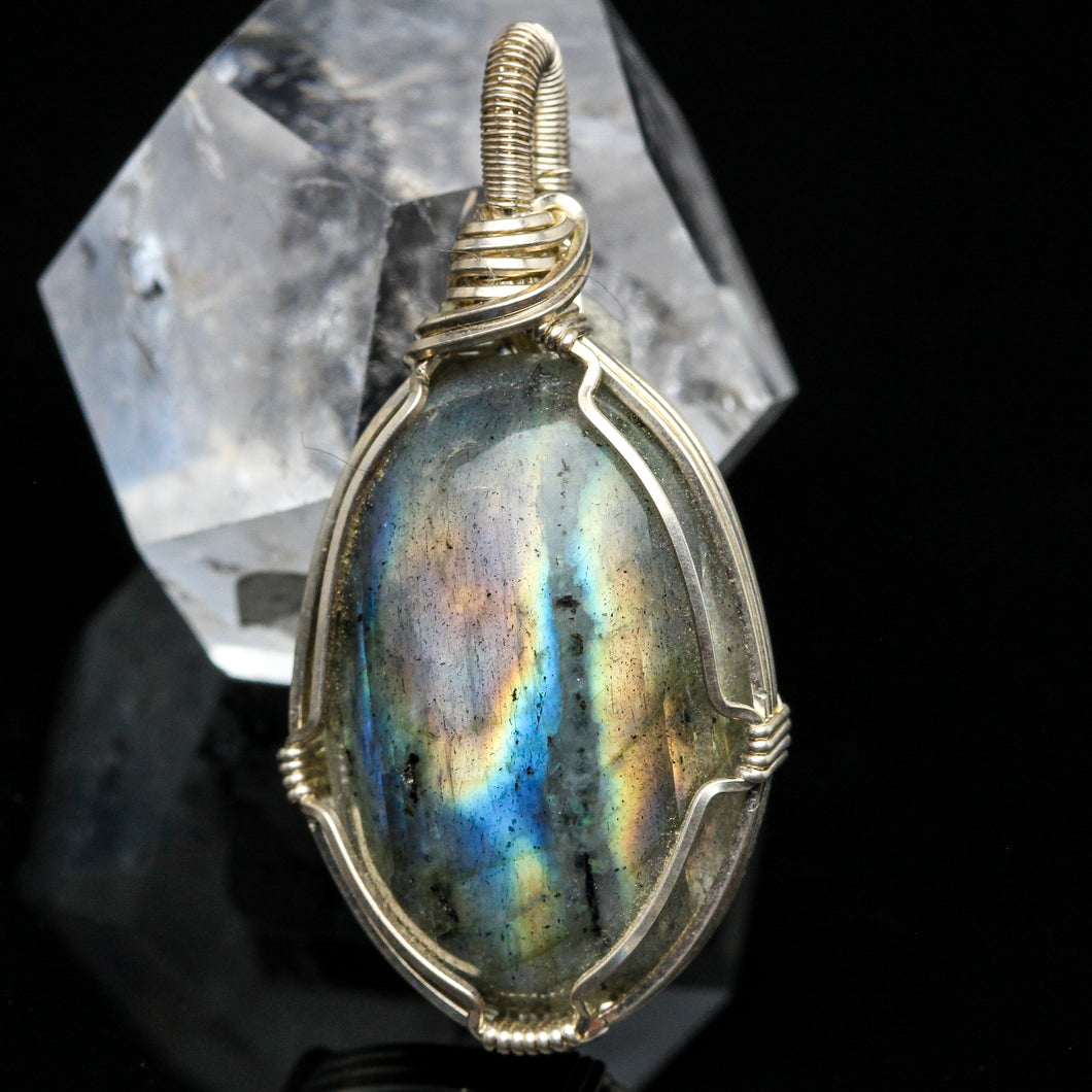 Labradorite and Sterling Necklace
