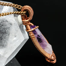 Load image into Gallery viewer, Vara Cruz Amethyst and Copper Pendant