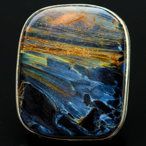 Pietersite and Sterling Ring- Size 5.5