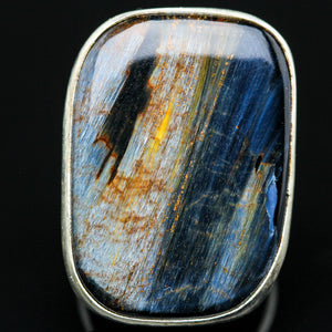 Shield of Power: Pietersite  Ring- Size 7.5