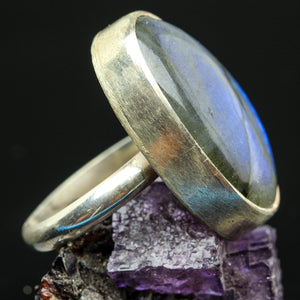 Labradorite and Sterling Ring- Size 7.5