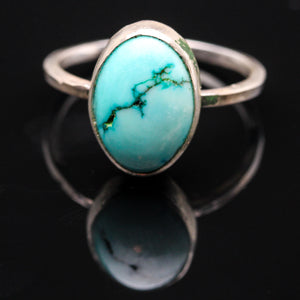 Royalty: Turquoise and Sterling Ring- Size 6.5