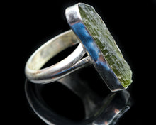 Load image into Gallery viewer, Moldavite and Sterling Ring- Size 7.5
