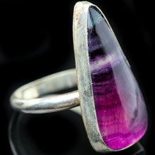 Load image into Gallery viewer, Fluorite and Sterling Ring- Size 6